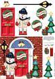 Singing Snowman Christmas Door Quick Card & 3D Decoupage