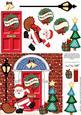 Santa's Sack Christmas Door Quick Card & 3D Decoupage