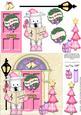 Singing Westie Christmas Door Quick Card & 3D Decoupage