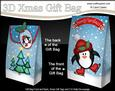 3D Xmas Skating Penguin Gift Box Mini Kit