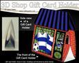 3D Little Football Crazy Shop Gift Card Holder