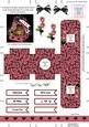 Roses 3D Valentine Treat Box Easifold Frame
