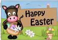 A4 Gigi Horse Easter Card Topper