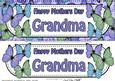 Large Dl Mothers Day Grandma Floral Butterflies 3D Decoupage