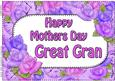 A4 Mothers Day Great Gran Time for Roses Card Topper