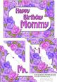 5x7 Time for Roses Birthday Mommy Scallop Corner Stacker