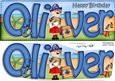 Pirates Birthday Oliver Large Dl Quick Card 3D Decoupage