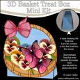 3D Pansies & Butterflies Basket Shaped Treat Box Mini Kit