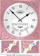 8 x 8 Birthday Clock Scalloped Corner Topper