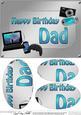 A5 Birthday Dad Gadgets N Gizmos Oval Pyramage Topper