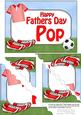 5x7 Football Fathers Day Pop Scallop Corner Stacker