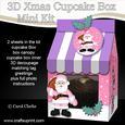 3D Xmas Santa Milk Carton Cupcake or Treat Box Mini Kit
