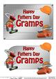 5x7 Fathers Day Gramps Handyman Tools 3D Decoupage