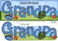 Large Dl Birthday Grandpa Fishing Card & 3D Decoupage