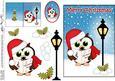 Christmas Little Hoot Owl Lamp Post 5x7 3D Decoupage