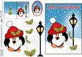 Christmas Pip Penguin Lamp Post 5x7 3D Decoupage