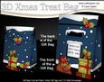 3D Christmas Postbox Gift Bag Mini Kit