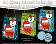 3D Little Bobbin Robin Xmas Hanging Advent Calendar Box Kit