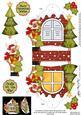 3D Rudolph Xmas Window Treat Holder Christmas Decoration