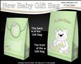 3D New Baby Teddy Bear Gift Bag Mini Kit