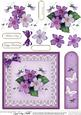 Pretty Viola Quick Card with 3D Decoupage