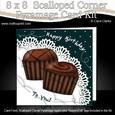 8 x 8 Birthday Chocolates Scalloped Corner Kit