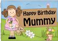 A4 Birthday Mummy Girlz Zoe Topper