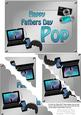 5x7 Gadgets N Gizmos Fathers Day Pop Scallop Corner Stac