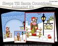 3D Xmas Gigi Horse Sleeps Till Santa Countdown Card
