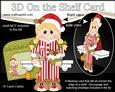 3D on the Shelf Card Kit - Little Christmas Pyjama Girl