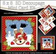 8x8 Christmas Oops Rudolph Mini Kit 3D Decoupage
