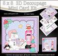 8x8 Christmas Snowman Oli's Letter Mini Kit 3D Decoupage