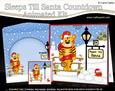 3D Xmas Tinker Tiger Sleeps Till Santa Countdown Card