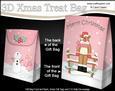 3D Christmas Rudolph Gift Bag Mini Kit
