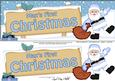 Large Dl Xmas Max 1st Christmas Santa Signpost 3D Decoupage