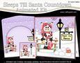 3D Christmas Milly Moo Cow Sleeps Till Santa Countdown Card