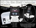 3D on the Shelf Everlasting Calendar Kit - Little Cat