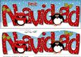 Large Dl Christmas Feliz Navidad Penguins 3D Decoupage