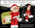 3D on the Shelf Card Kit - Little Christmas Hairdresser