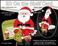 3D on the Shelf Card Kit - Santa's Christmas Tree
