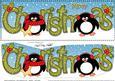 Large Dl Christmas Penguins 3D Decoupage