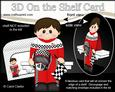 3D on the Shelf Card Kit - Little F1 Racing Driver Gerry