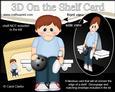 3D on the Shelf Card Kit - 10 Pin Bowling Boy Sheldon