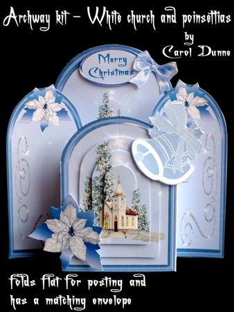 Archway Kit - Church with Poinsettias