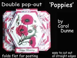 3D Double Pop-out - Poppies