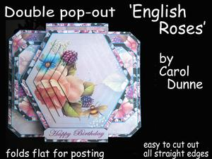 3D Double Pop-out - English Roses