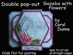 3D Double Pop-out - Gazebo with Flowers