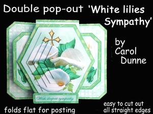 3D Double Pop-out- White Lilies -sympathy