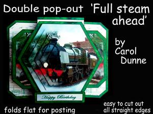 3D Double Pop-out - Full Steam Ahead.