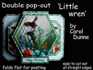 3D Double Pop-out - Little Wren